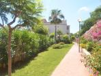 Beautiful tropical gardens, leading to two swimming pools