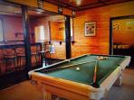 Sports Game Room - Full Bar w/ pool table. Ping-Pong room located off bar area.