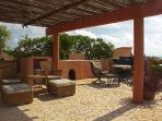 Private roof top terrace with plenty of seating in both the sun and shade