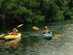 2 kayaks included with rental