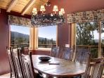 Dining room has views to the lake
