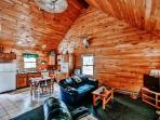 You'll simply fall in love with this cabin's rustically charming atmosphere