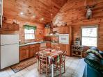 This bright fully equipped kitchen comes complete with all the necessary cooking appliances