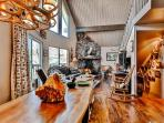 You'll love the classic cabin-like decor throughout the interior