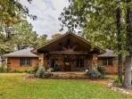 Let this stately Kingston vacation rental house serve as your home base during your time in Oklahoma!