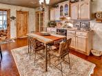 Enjoy your culinary masterpieces around this charming dining area