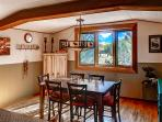 Gather in the lovely dining room for family meals.