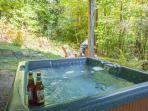 Private hot tub at the house