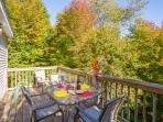 Tree top deck with outdoor seating