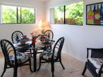 The charming dining area.