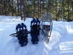 Snowshoes available