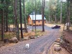 Driveway to cabin