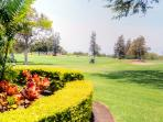 This property sits on the 9th fairway of a pristine golf course.