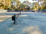 Tennis courts abound for your recreation needs