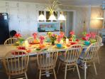 Great Kitchen Table seats 12!