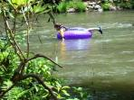 A lazy day tubing down the Coosawattee River
