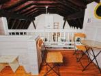 The kids will love playing upstairs in the loft!