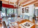 Enjoy home cooked meals around the formal dining table.