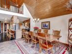 Enjoy delicious home cooked meals around this beautiful dining table, with seating for 8.
