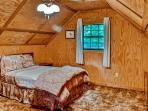 The loft has been newly renovated with new hard pine floors, french door with see-through wall and custom railings.