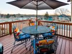 Step outside to the beautiful north-facing deck.
