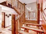 The beautiful wooden stairway