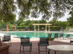 You'll get to enjoy access to the community pool and tennis courts.