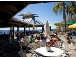 2 waterfront restaurants & beach front tiki bar, evening live entertainment