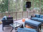 Look forward to spending your downtime on one of the 3 screened porches.