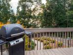 Enjoy cookouts on the expansive deck with gas grill.