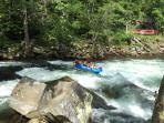 Whitewater rafting on the Nantahala river