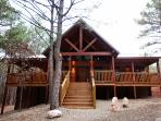 A view from outside our beautiful Tree Top Tango cabin