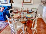 Enjoy your meals around this charming dining area