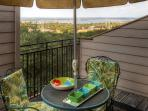 Enjoy views of the lake from your balcony.