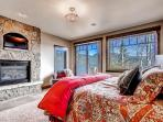The master bedroom boasts its own wonderful gas fireplace