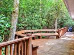 Enjoy grilling out on the massive back deck, surrounded by stunning North Georgia Mountain scenery
