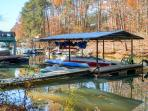 Enjoy use of the private dock on the premises, where you can tie up your boat.