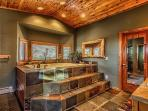 Luxurious Master Bath is 1 of 4 full bathrooms in the Lodge