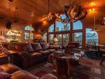 Fabulous Great Room - Luxurious Lodge Living - Room with a View