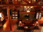 Eagle's eye view of the grand living room