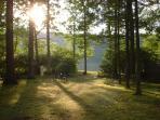 yard to lake