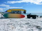 Book a fishing tour right on the beach