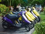 Scooter rentals 2 minutes from the condo