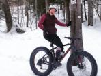 Fat tire biking, snow shoeing, XC skiing on the Kingdom Trails just out the door