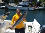 Nice 55lb wahoo caught at the Islamorada Hump about 10 miles from the house