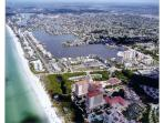 AERIAL VIEW OF VANDERBILT BEACH WITH WORLD RENOWNED RITZ CARLTON IN FOREGROUND