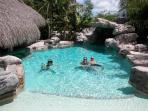 Rock swimmng pool with grotto