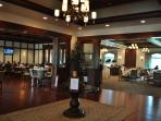 View of clubhouse grill room / bar and main dining areas