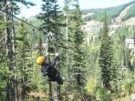 Summer Activities within a walk include zip lining, alpine slide, mtn. bike trails and rentals.
