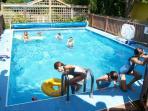 Enjoying the Pool in the side yard